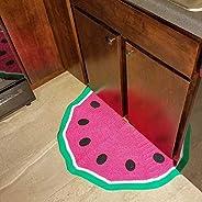 Watermelon Crocheted Half-Circle Rug