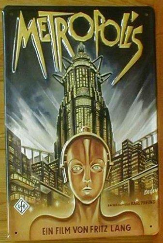 Diseño de placa de publicidad del cartel de Metropolis ({2 ...