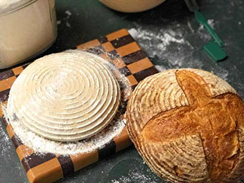 Make Beautiful Sourdough Bread with Baker's Reserve Ultimate Bread Baking Kit - Kit Includes Round 9 inch Banneton, Linen Liner, Dough Scraper and Dough Lame - Perfect for Making Rustic, Artisan Bread by Baker's Reserve (Image #4)
