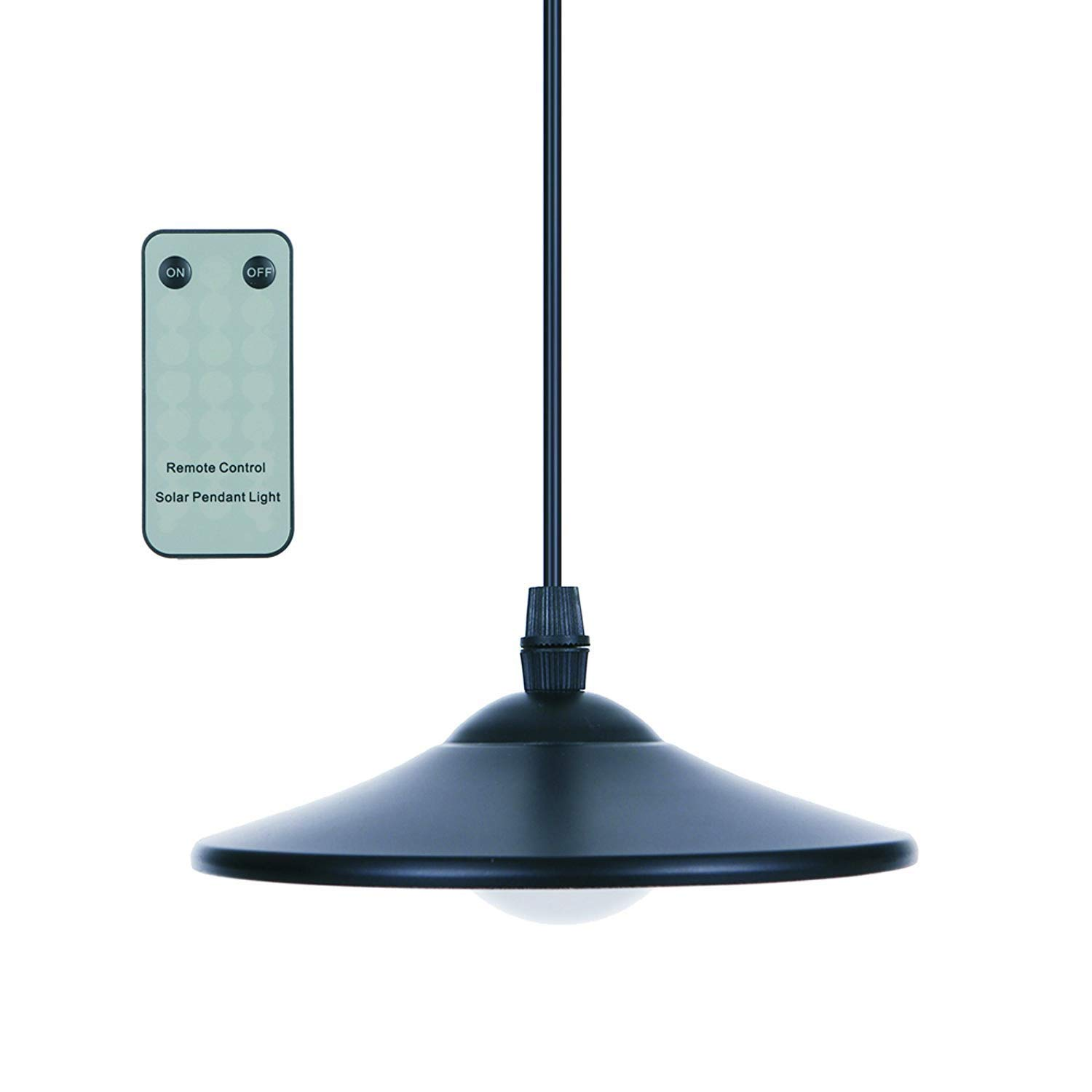Tomshine 3W Solar Powered Pendant Light Outdoor Hanging Lamp 4 LED Shed Lights 250lm Pendant Lamp with Remote Control for Kitchen Garden Yard Patio Balcony Home Landscape by Tomshine