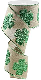 "18 yd St Patrick/'s Shamrock Metallic Green Edge Ribbon 7//8/"" Wide FREE SHIP"