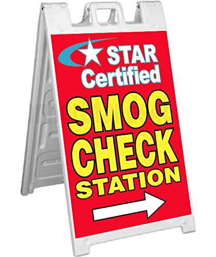 Signicade A-Frame Sign Sidewalk Pavement Sign - Star Certified Smog Check Station
