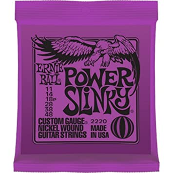 CUERDAS GUITARRA ELECTRICA - Ernie Ball (2220) Slinky Power/Color Violeta (Juego Completo 011/048E): Amazon.es: Instrumentos musicales