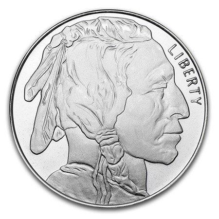 1 oz Silver Round - Buffalo (Gold Coin Silver)