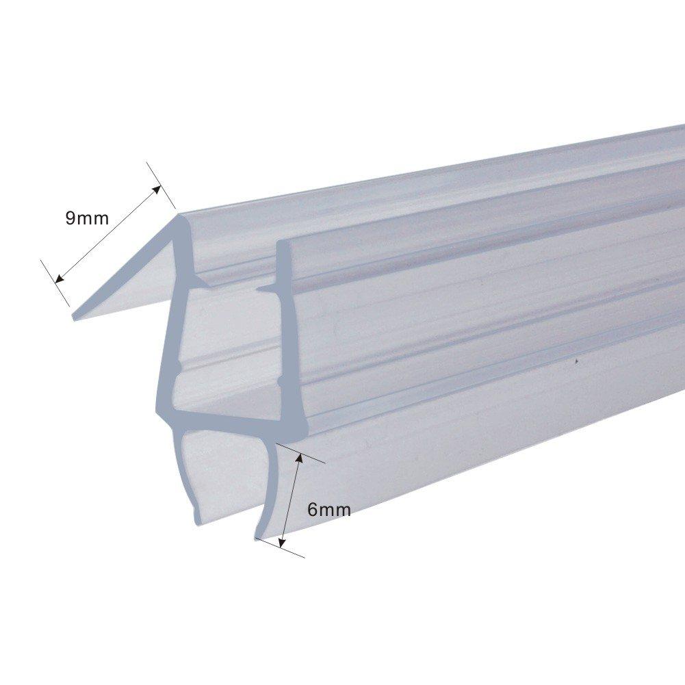 Homecart Frameless Shower Door Bottom Seal, 36-Inch Long, Vinyl, Clear, for 1/4-Inch Glass 1/4''(6mm) by Homecart (Image #2)