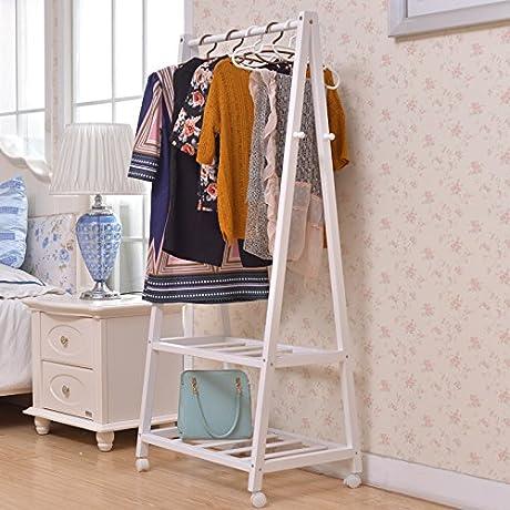 Removable Landing Bedroom Hanger Coat Rack Hanger Design Simple Modern Creative Pine Rack White