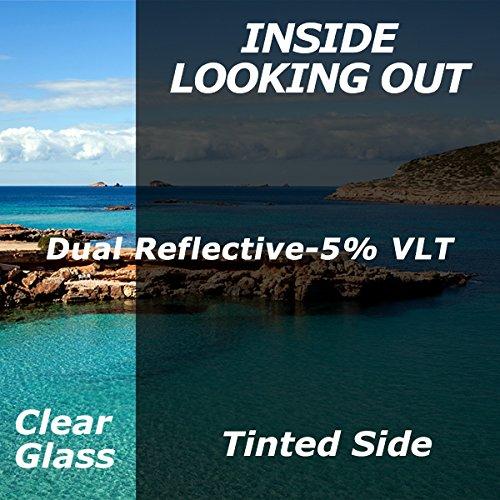 Premium Dual Reflective Window Film 5% VLT 36 Inch x 30 Feet