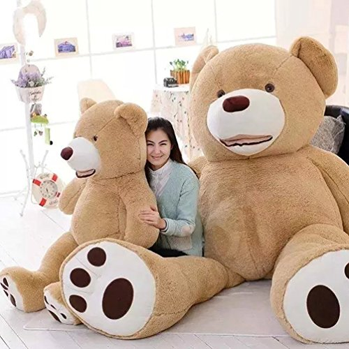 Woworld Stuffed Teddy Bears With Big Footprints Plush Stuffed Animals Light Brown 80cm/31inch