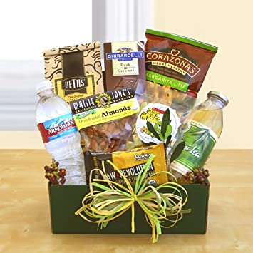 Amazon.com : Natural Organic Snacker Gift Box Basket Christmas Gift ...