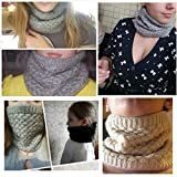 Leories Winter Neck Warmer Fleece Lined Infinity