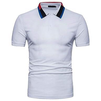Polo Camisa De Verano para Hombre Solapa Casual Mode De Polo Marca ...