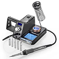 X-Tronic Model #3020-75 Watt - Soldering Iron Station with 10 Minute Sleep Function, Auto Cool Down, C/F Switch, Ergonomic Soldering Iron Plus More by X-TRONIC