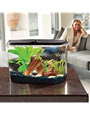 Koller Products PanaView 5-Gallon Aquarium Kit - Power Filter - LED Lighting with Multiple Colors