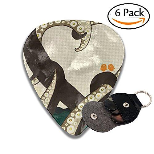 Libra Accessories Assorted Octopus Halobios Acoustic Thin Heavy Medium Light Guitar Picks Unisex 6 Packs Cigar Box Guitar