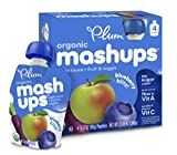 Plum Kids Organic Fruit and Veggie Mashups, Blueberry Blitz, 3.17 Ounce, 4 Count (Pack of 6)