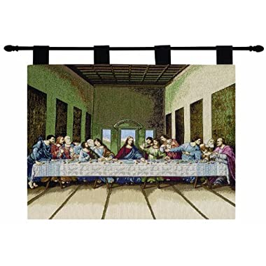 Manual Inspirational Collection Wall Hanging and Finial Rod, Last Supper, 36 X 26-Inch