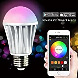 MagicLight® Bluetooth Smart LED Light Bulb - Smartphone Controlled Dimmable Multicolored Color Changing LED Lights - Works with iPhone, iPad, Android Phone and Tablet