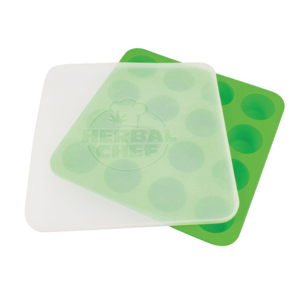 Herbal Chef Silicone Concentrate Tray with Lid - Green - 8.5 x 8.5 KT01
