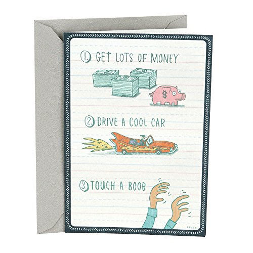 Hallmark Shoebox Funny Birthday Greeting Card (Money Car)
