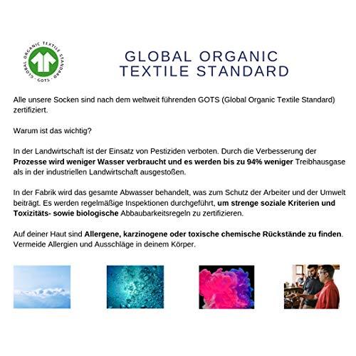 Fantaisie Rouge Gots Coton ciel Vibes Hommes Femmes en Équitable Chaussettes Organique Natural Coloré Arc SqIO4S