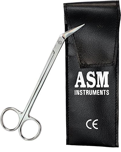 ASM® Nail Scissors - Long Handled Sharp Nail Clippers Cutters for Fingernail & Toenail Extra Long Thick Toe Nail Scissors Clippers Cutters Chiropody Podiatry Pouch