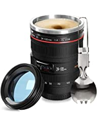 Fanatekcamera Coffee Mugcamera Thermos Cup Including A Spoonounce Photographer Lens