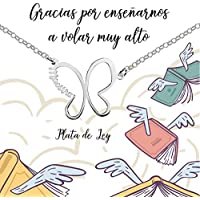 Collar Mariposa para maestra Plata de Ley 925 con mensaje para regalar