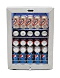 Kitchen & Housewares : Whynter BR-091WS Beverage Refrigerator with Lock, 90 Can Capacity, Stainless Steel