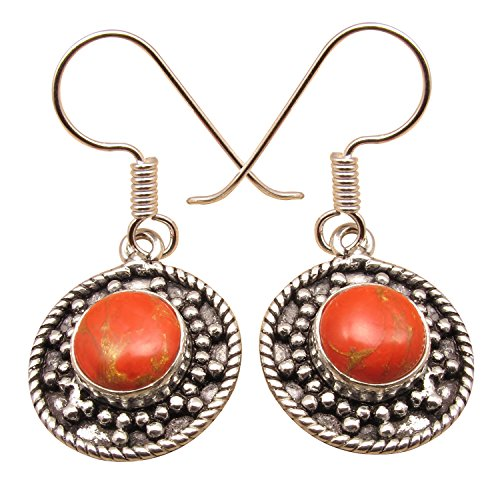 Old Style Tribal Look EARRINGS 11 Color ! Wholesale Price Jewelry Store ! 925 Sterling Silver - International Shipping Price
