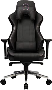 Cooler Master Caliber X1 Gaming Chair High Back Office Computer Game Chair, 360-Degree Swivel PU Leather Reclining Ergonomic Backrest, Headrest, Seat Height and Armrest Adjustment with Lumbar Support