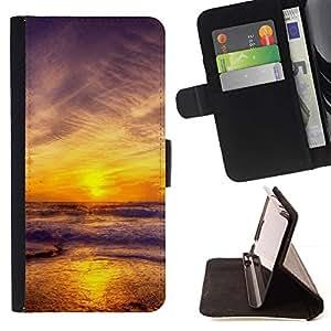 Momo Phone Case / Flip Funda de Cuero Case Cover - Puesta de sol Mar Beautiful Nature 11 - HTC One M7