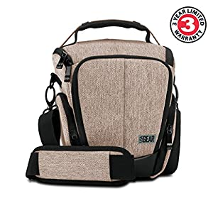 USA Gear Camera Case for Digital SLR with Soft Cushioned Interior, Zippered Accessory Pockets, Adjustable Carry Strap for Nikon D3300 / D3400 / D5500, Canon Rebel T6 / T6i / T5 / T5i & More from USA GEAR