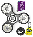 Prime Fidget Spinner Anxiety Attention Toy With BONUS eBook Included + Minion Key Chain- Perfect For ADD, ADHD Relieves Stress, Autism, Anxiety And Relax for Children and Adults EBOOK is sent by email