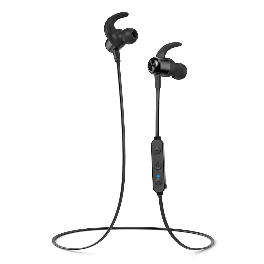 Bluetooth Headphones TaoTronics Wireless Earbuds Sport Earphones 20 Hours 5.0 Magnetic Lightweight & Fast Pairing Noise Cancelling Mic Magnetic Snug Silicon Earbuds
