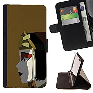Momo Phone Case / Flip Funda de Cuero Case Cover - Guerrero chica;;;;;;;; - Huawei Ascend P8 Lite (Not for Normal P8)