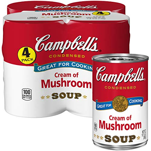 Campbell's Condensed Cream of Mushroom Soup, 10.5 oz. Cans, 4 Count (Roasted Red Potatoes And Onion Soup Mix)