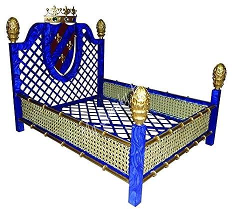 Amazon.com: Art Deco azul zafiro perro de mascota cama | Oro ...
