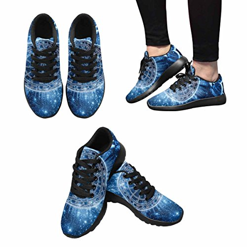 InterestPrint Womens Casual Soft Sports Road Running Walking Shoes Space Zodiac Wheel and Planets Multi 1 jd4NlW