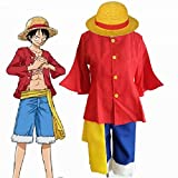 Fantasycart ONE PIECE 2nd generation Monkey D Luffy Cosplay Costume After 2 years M