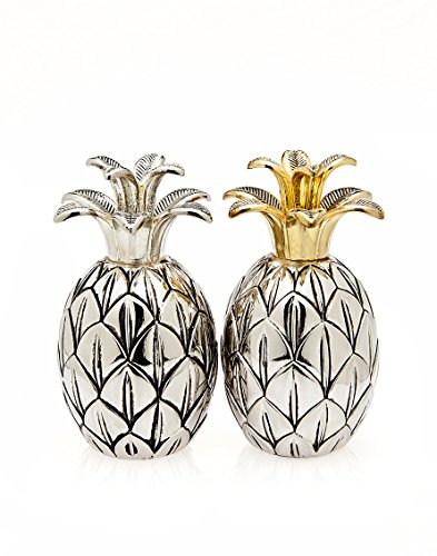 Godinger Pineapple Silver Plated Salt and Pepper Set