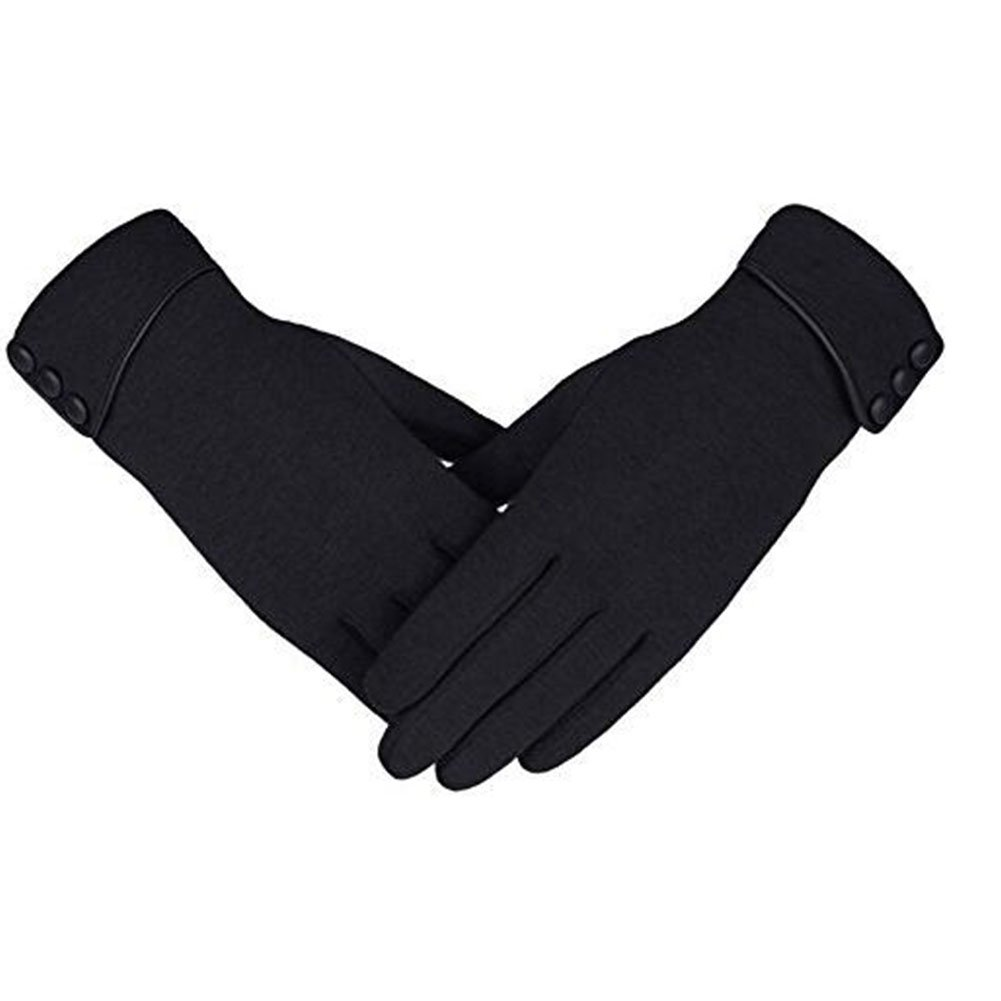 cf992c42c93 SgaSong Womens Winter Gloves Work Motorcycle Gloves Running Black Touch  Warmer Gloves at Amazon Women s Clothing store