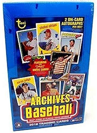 2018 Topps Archives Baseball Hobby Box 24 Packs//8 Cards: 2 Autographs