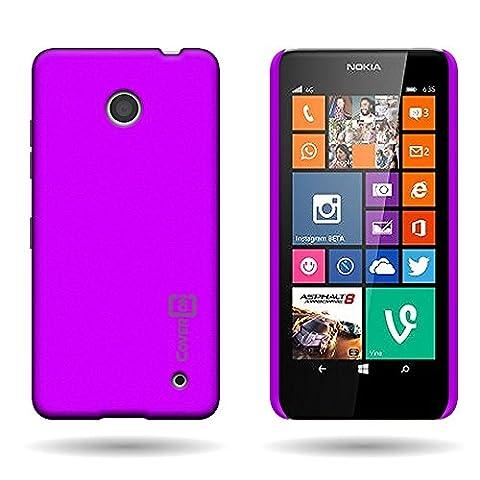 Lumia 635 Case, CoverON for Nokia Lumia 635 Hard Case Slim Fit Back Cover w/ Rubberized Coating - Purple (Nokia Lumia 635 Cases For Guys)