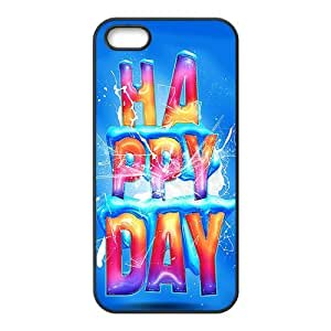 Painted happy day PC Hard back phone Case cover Iphone 5s 5