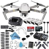 Platinum DJI Mavic Pro Quadcopter Drone 4 Battery Bundle