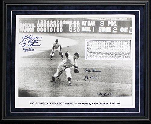 Don Larsen & Yogi Berra World Series Perfect Game Autographed Framed 16x20 Photo - Series Larsen Don World