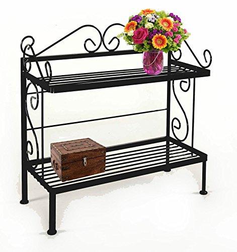 Plant Iron Shelves Wrought (Grace 2 Shelf Rack, 30