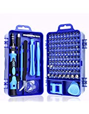 Screwdriver Set 115 in 1, 98 Bit Magnetic Impact Driver Bits Set with Case, Computer Repair Tool Kit for iPhone, iPad, Laptop, Watch, Macbook, Xbox, Cellphone, PC and Game Console