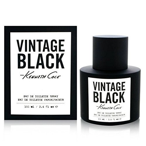 Vintage Black by Kenneth Cole Eau de toilette Spray for Men, 3.40 Ounce
