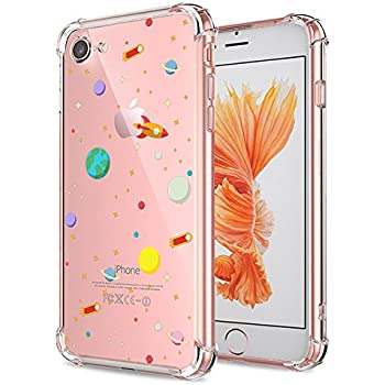 info for 1a330 618fb iPhone 7 8 Case Clear with Design Cute Outer Space Galaxy Planet Pattern  Print Protective Case for Both iPhone 7 and iPhone 8, Shockproof Flexible  ...